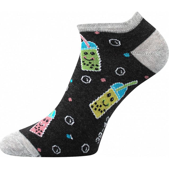Barevné ponožky pití-B kotník