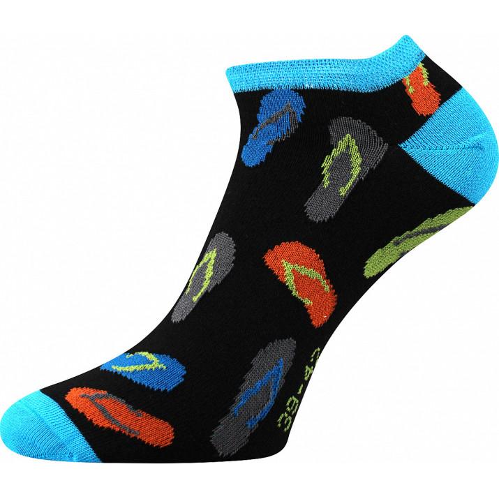 Barevné ponožky žabky-B kotník