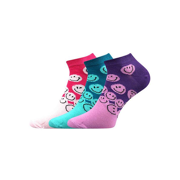 barevné ponožky smajlík X 3...