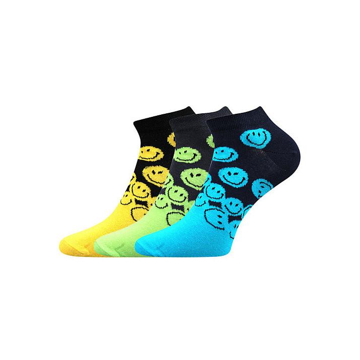 barevné ponožky smajlík-B X...