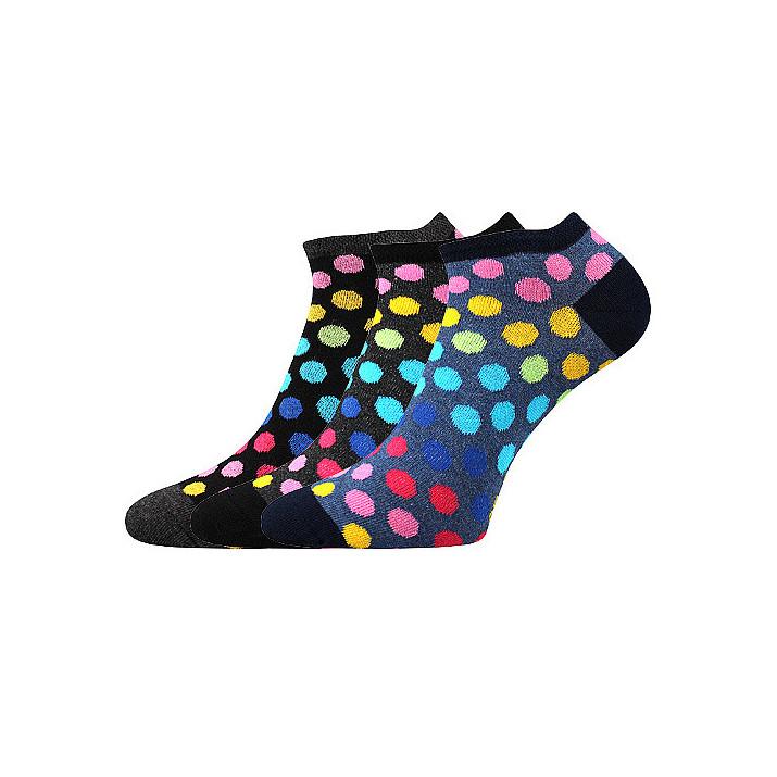 barevné ponožky puntíky A 3...
