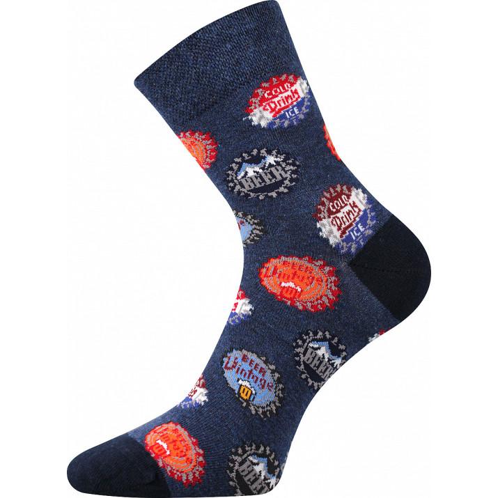 Ponožky barevné nápoj-zátky...