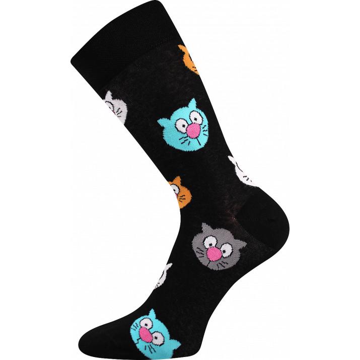 Barevné ponožky trendy kočky