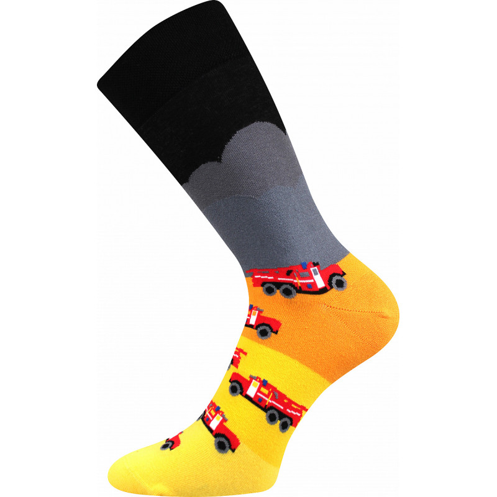 Barevné ponožky trendy hasiči