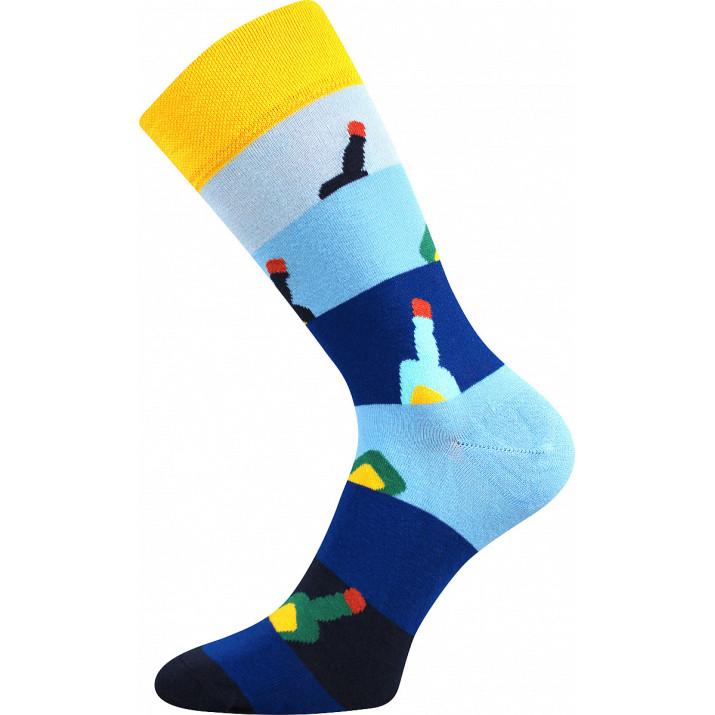 Barevné ponožky trendy lahve