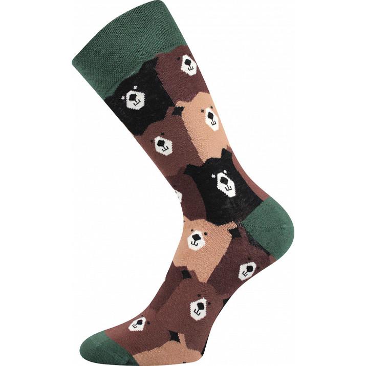 Barevné ponožky trendy medvědi