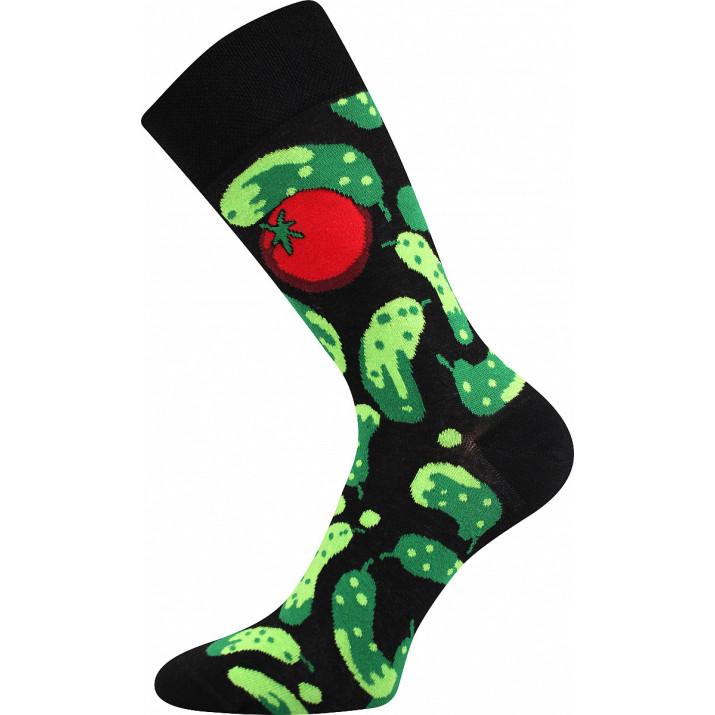 Barevné ponožky trendy okurky