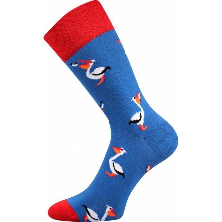 Barevné ponožky trendy pelikán