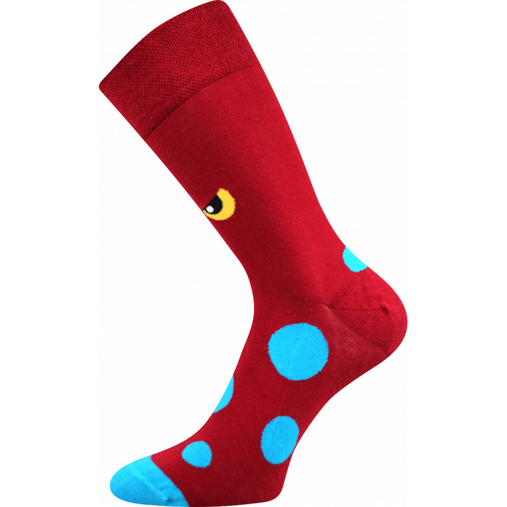Barevné ponožky trendy příšera