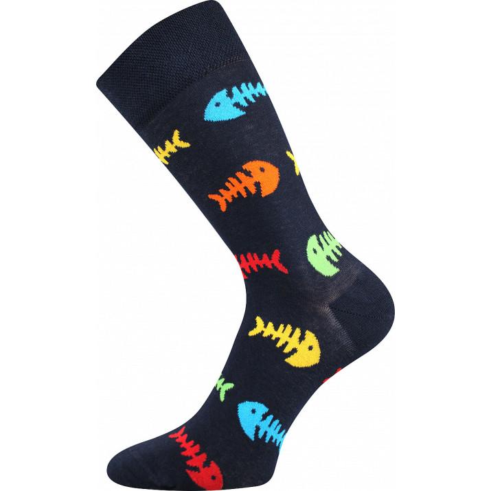 Barevné ponožky trendy ryba