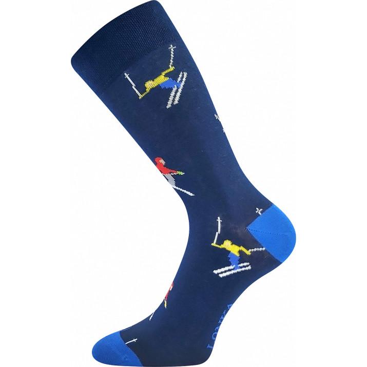 Barevné ponožky trendy lyžař