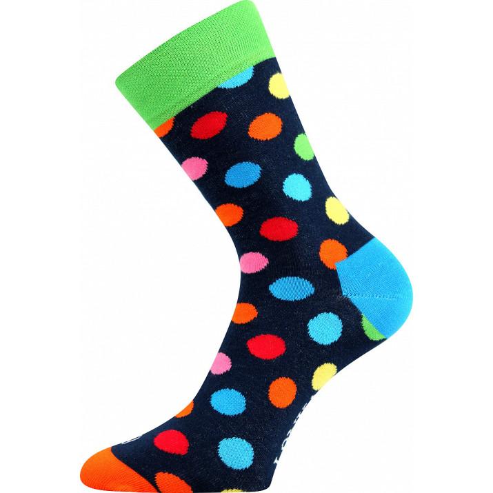 Barevné ponožky Woodoo puntíky