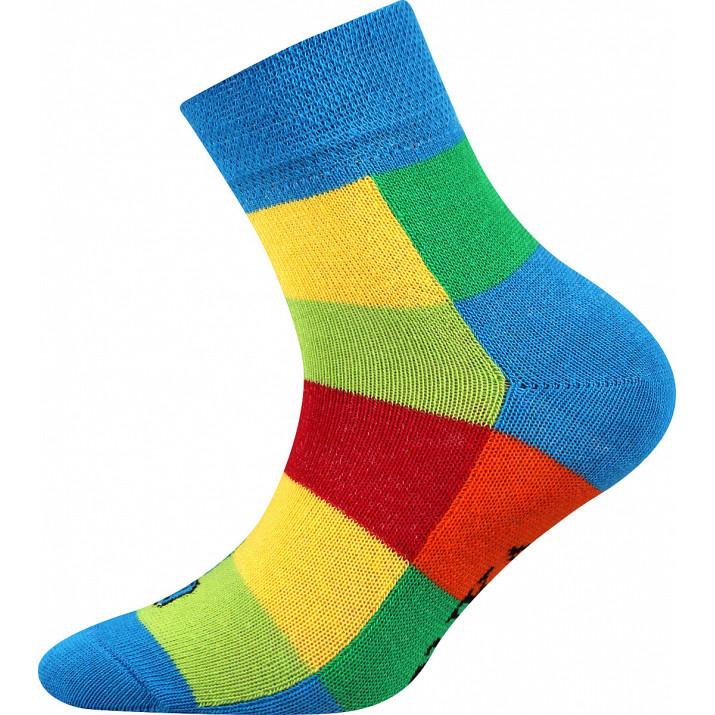 Ponožky Decubik kostka modré