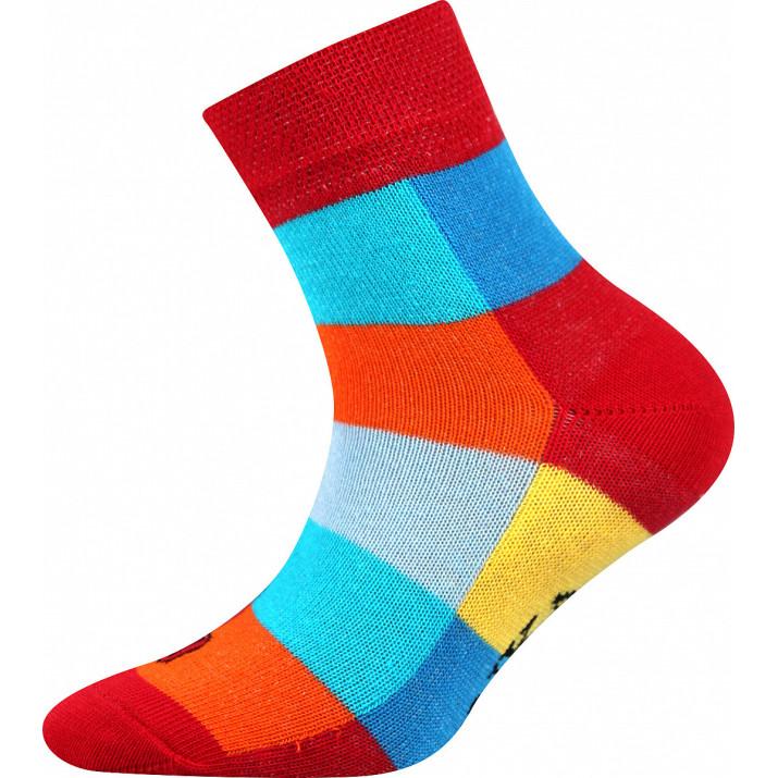 Ponožky Decubik kostka červené