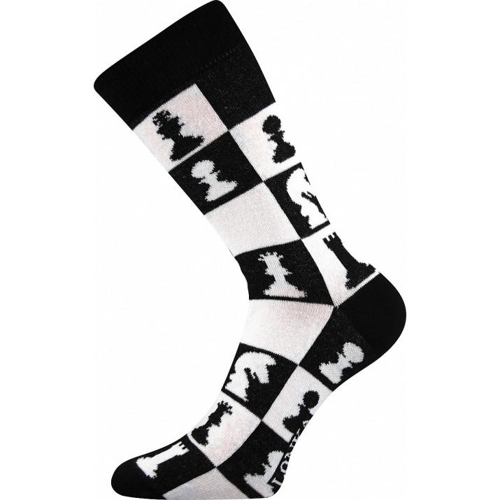 Barevné ponožky Woodoo C šachy