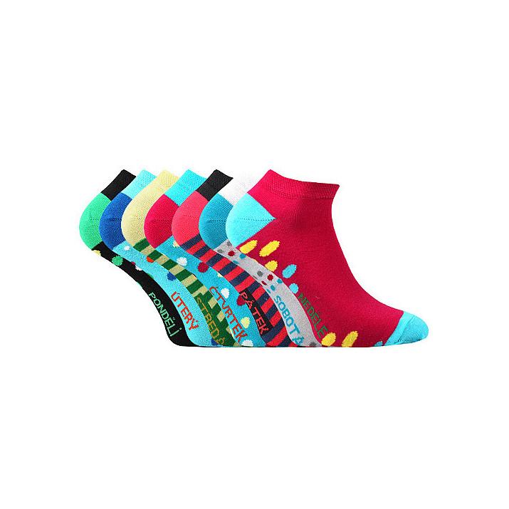Barevné ponožky Piki 7 day