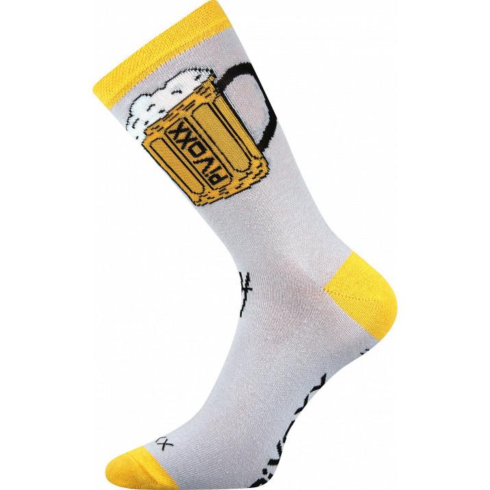 Ponožky PiVoXX bílé