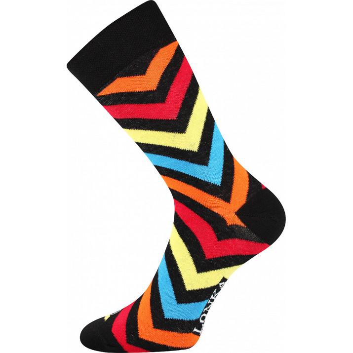 Barevné ponožky Woodoo H pruh