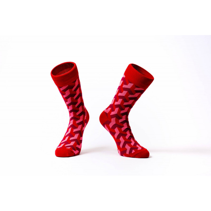 Barevné ponožky Soxit 3D Red