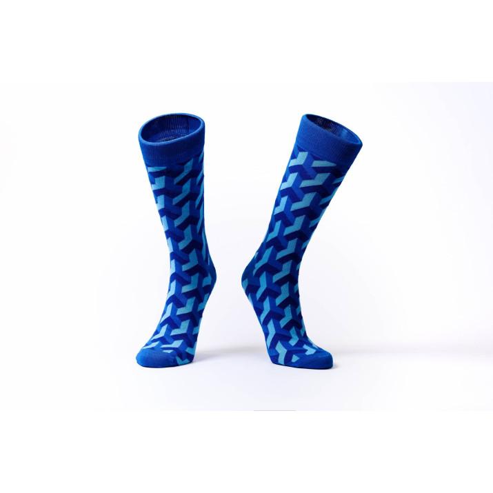 Barevné ponožky Soxit 3D Blue
