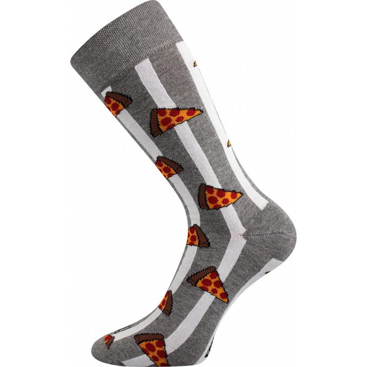 Barevné ponožky Defood pizza