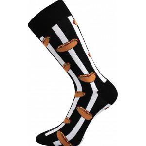 Barevné ponožky Defood hotdog
