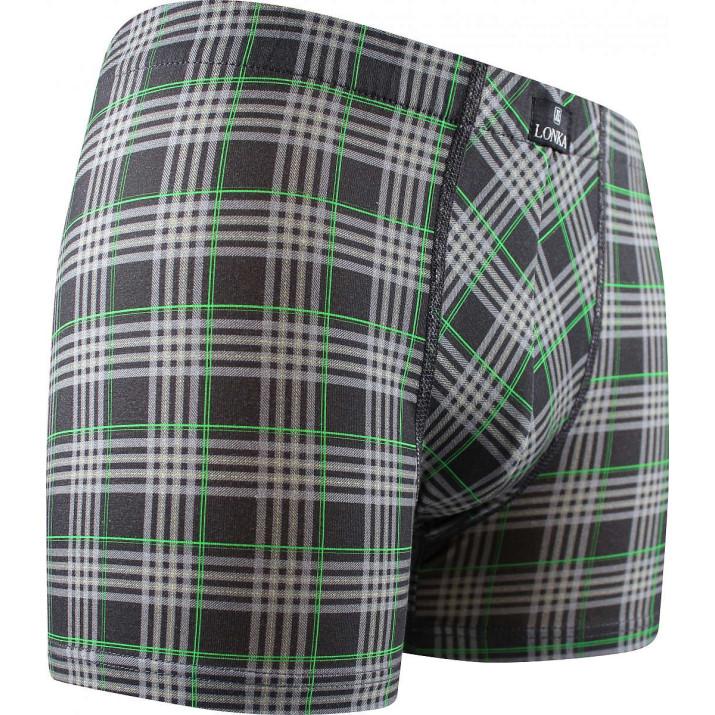 Pánské boxerky Tartan šedé