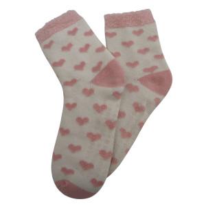 Ponožky na doma srdíčka