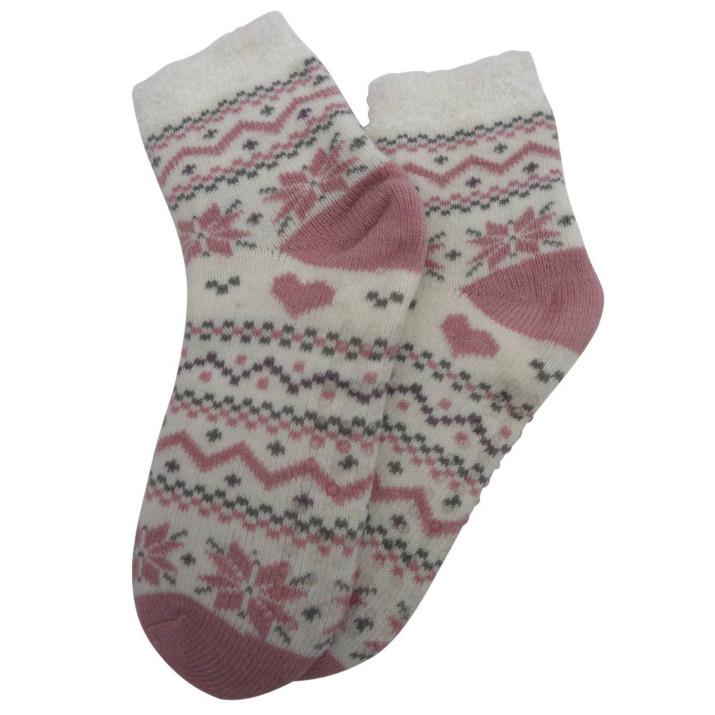 Ponožky na doma srdíčka -...