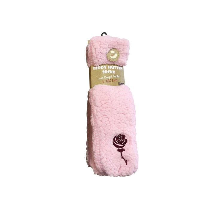 Ponožky na doma růžové