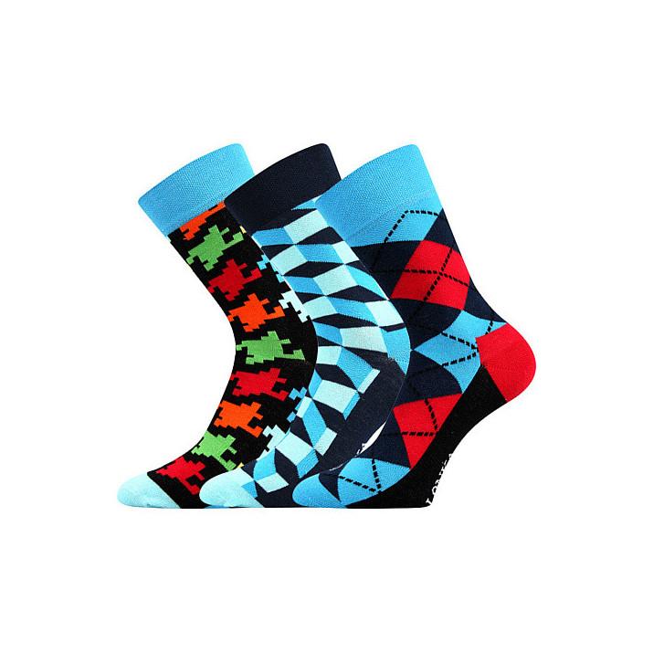 Barevné ponožky Woodoo mix...